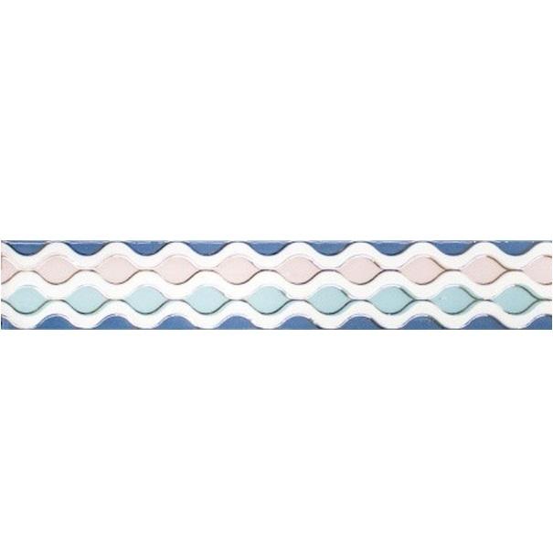 Керамический бордюр Lasselsberger Ceramics Парижанка Фантазия 1506-0256 7х60 см