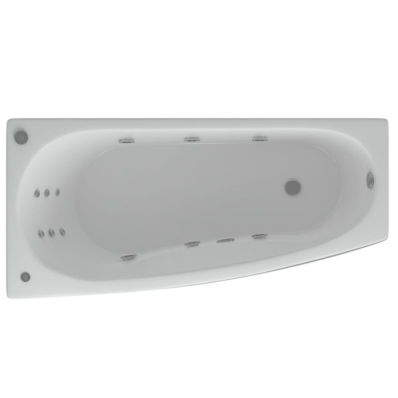 Акриловая ванна Акватек Таурус 170х100 L с гидромассажем Koller акриловая ванна акватек вирго 150x100 l с гидромассажем koller