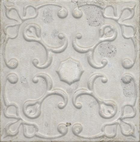 Керамическая плитка Aparici Aged White Ornato настенная 20х20см керамическая плитка aparici poeme beige ornato настенная 20х20 см