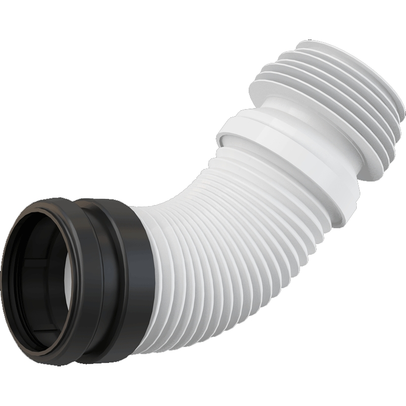 Колено выпускное для унитаза Alcaplast M9006 Белое Черное