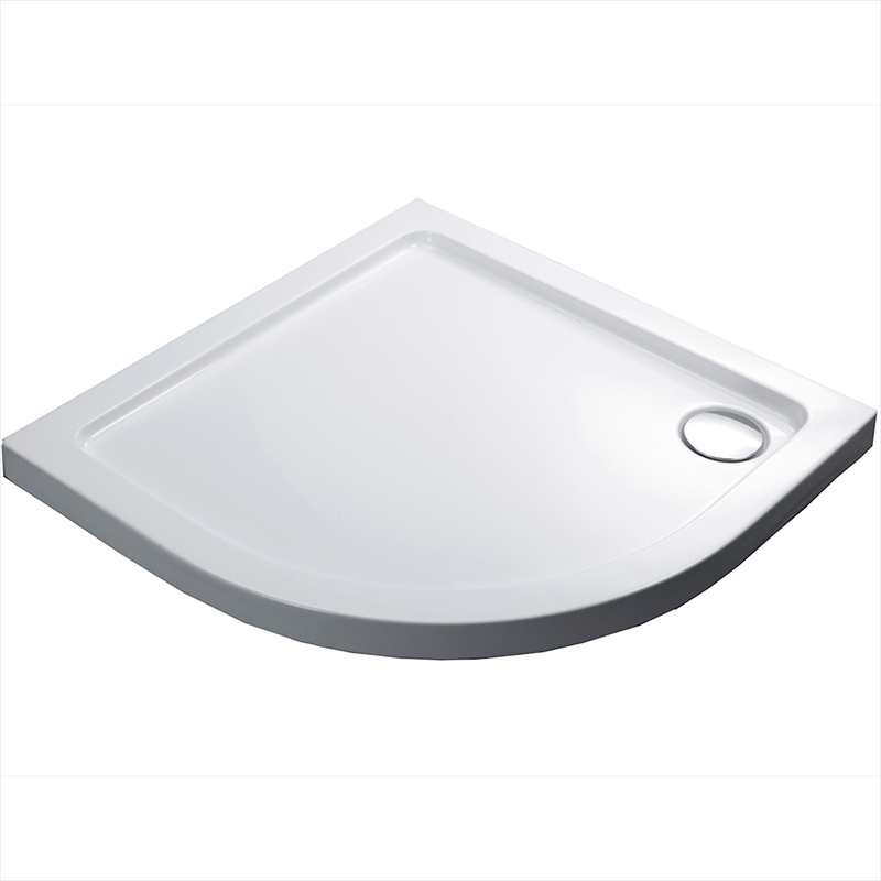 Акриловый поддон для душа Black&White Stellar Wind Slim Line QC-10 100x100 Белый