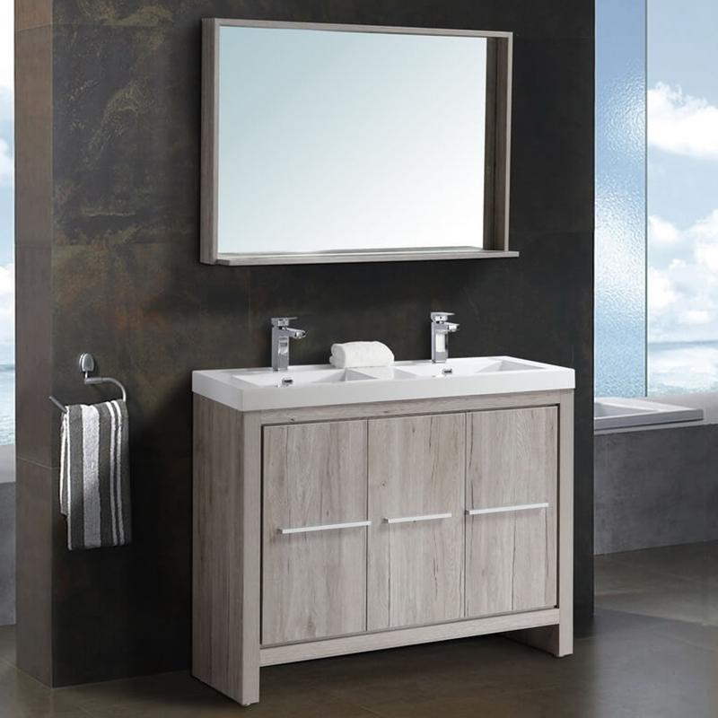 цена на Комплект мебели для ванной Black&White Country SK-120 Дуб