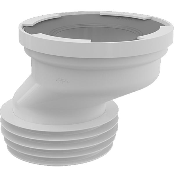 Выпускной патрубок для унитаза Alcaplast A991-40 гофровый Белый недорого