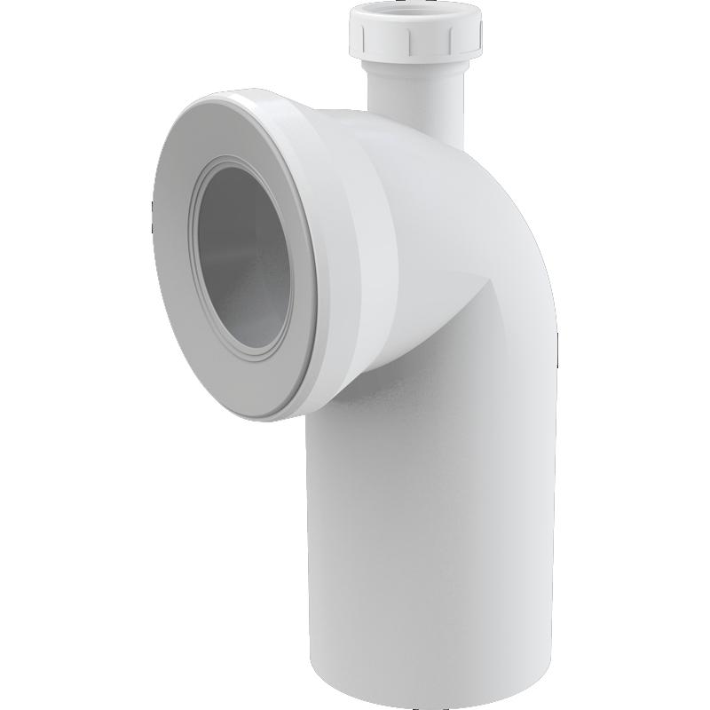 Колено выпускное для унитаза Alcaplast A90-90P40 Белый фото