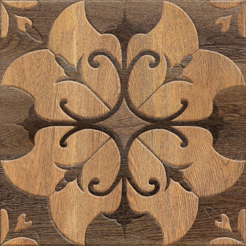 Керамическая плитка Absolut Keramika Cork Brown настенная 45x45см
