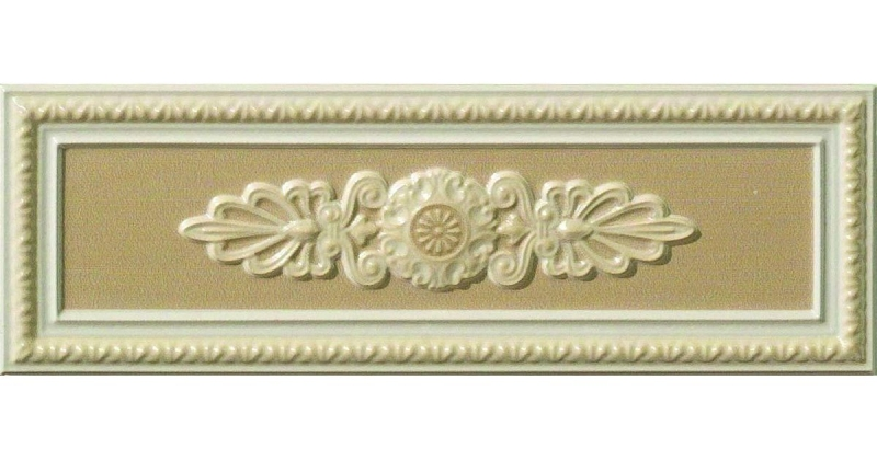 Керамический декор Vallelunga Lirica Tortora dec cornice 10х30 см