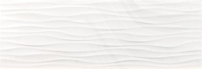 Керамическая плитка Ceracasa Absolute Bath Ondas Ice настенная 25x73см