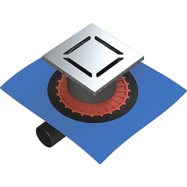 Душевой трап Berges Wasserhaus Zentrum Norma 100x100 090362 с решеткой Матовый хром фото