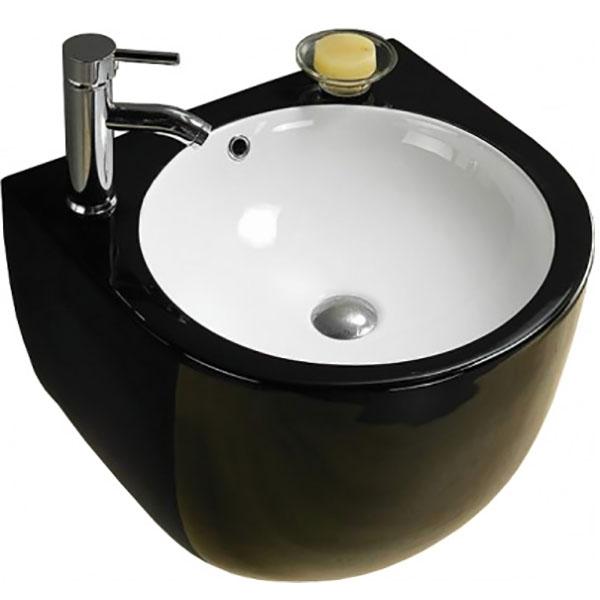 Раковина CeramaLux 49 500FBW Черная раковина ceramalux 49 500fbw черная