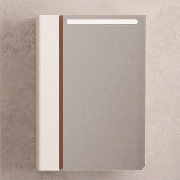 Зеркальный шкаф Velvex Cub 60 zsCUB.60-11.21.27 с подсветкой Темный лен Белый зеркальный шкаф vigo kolombo 80 с подсветкой серый