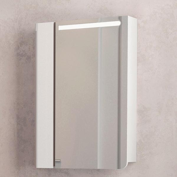 Зеркальный шкаф Velvex Cub 60 zsCUB.60-11.21.21 с подсветкой Белый зеркальный шкаф bellezza лагуна 105 с подсветкой бежевый белый