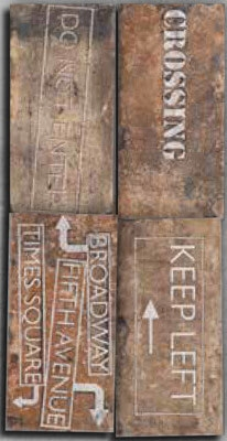 Керамический декор Serenissima New York Road Sighs Mix Chelsea 10x20 см стикеры для стен new 3d mix