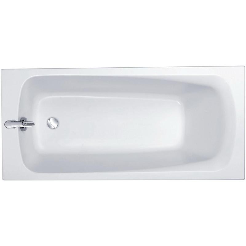 Patio 170x70 без антискользящего покрытияВанны<br>Акриловая ванна Jacob Delafon Patio 170x70 E6812RU-01.<br>Изящный дизайн ванны совмещен с функциональностью и удобством. Универсальный стиль этой модели дополнит интерьер большинства современных ванных комнат.<br>Изготовлена из акрила - прочного и приятного на ощупь материала. Благодаря низкой теплопроводности акрил долго сохраняет тепло воды.<br>Смягченные углы с внутренней стороны чаши ванны облегчают уход.<br>Плавный наклон спинки, повторяющий анатомические особенности тела человека. Встроенный подголовник обеспечивает дополнительный комфорт.<br>Цвет: белый.<br>Монтаж: на каркасе.<br>В комплекте поставки: чаша ванны.<br>