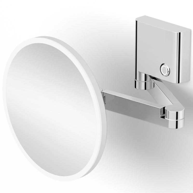 Косметическое зеркало Langberger 82185-3S с увеличением и подсветкой Хром косметическое зеркало raiber rmm 1114 с увеличением и подсветкой хром