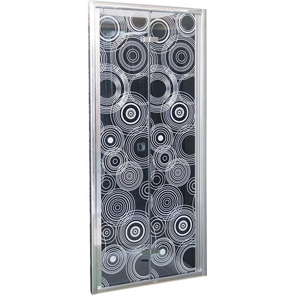 Душевая дверь в нишу Cerutti SPA 80x195 D81 профиль Хром стекло тонированное с рисунком душевая дверь в нишу migliore diadema 80x195 l профиль бронза стекло прозрачное