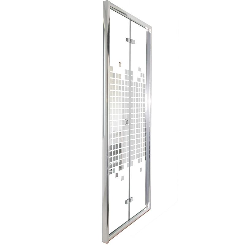 Фото - Душевая дверь Cerutti SPA Bella D91 90х195 профиль Хром стекло зеркальный рисунок душевая дверь cerutti spa bella d81t 80х195 хром
