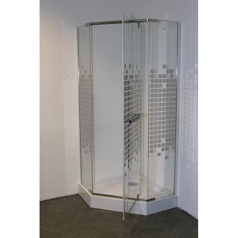 Фото - Душевой уголок Cerutti SPA Chika ZP91C 90х90 профиль Хром стекло зеркальный рисунок душевая дверь cerutti spa bella d81t 80х195 хром