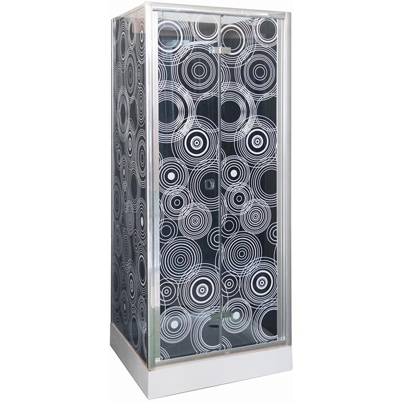 Фото - Душевой уголок Cerutti SPA ZQD91 90х90 профиль Хром стекло тонированное с рисунком душевая дверь cerutti spa bella d81t 80х195 хром