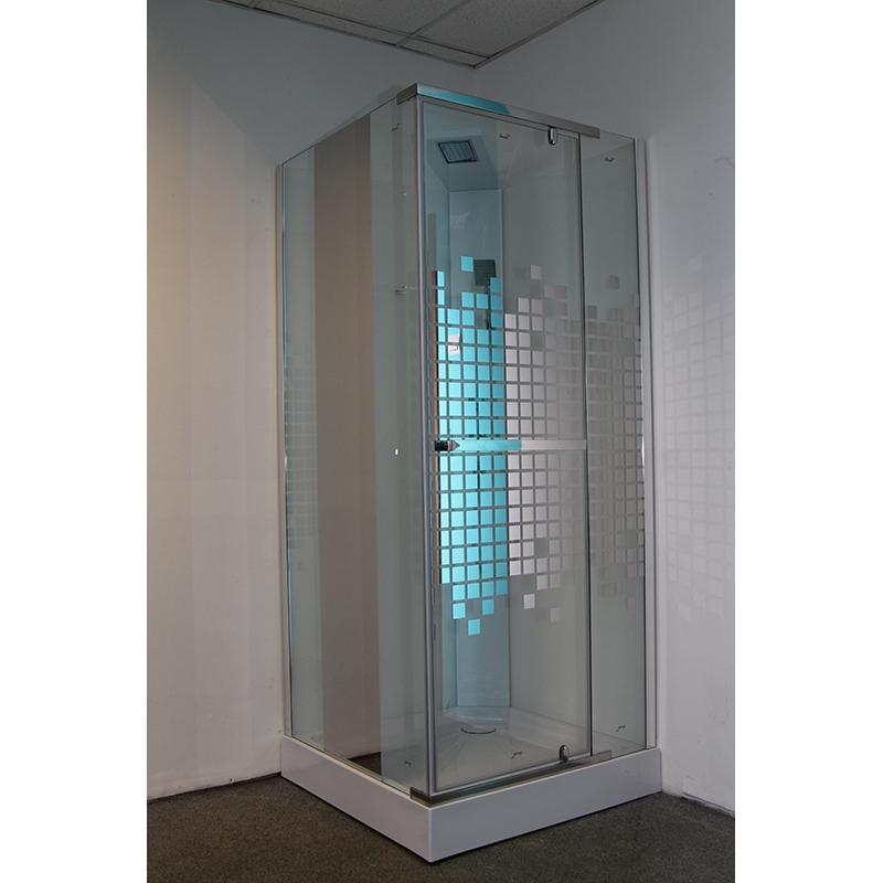 Фото - Душевая кабина Cerutti SPA Mimi 90х90 профиль Хром стекло с рисунком душевая дверь cerutti spa bella d81t 80х195 хром