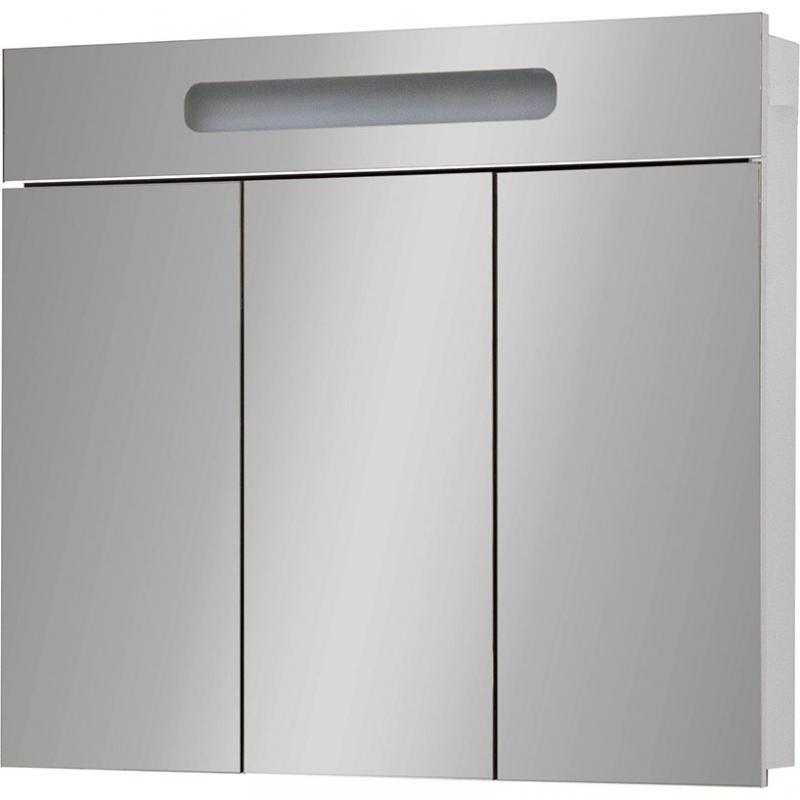 Зеркальный шкаф Cerutti SPA Ломбардия 90 zhlo с подсветкой Белый зеркальный шкаф vigo kolombo 80 с подсветкой серый
