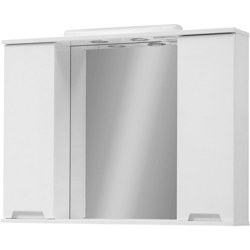 Фото - Зеркало со шкафом Cerutti SPA Ломбардия 95 hzlo с подсветкой Белое зеркало cerutti spa софия 95 6603 со светильниками белое золото