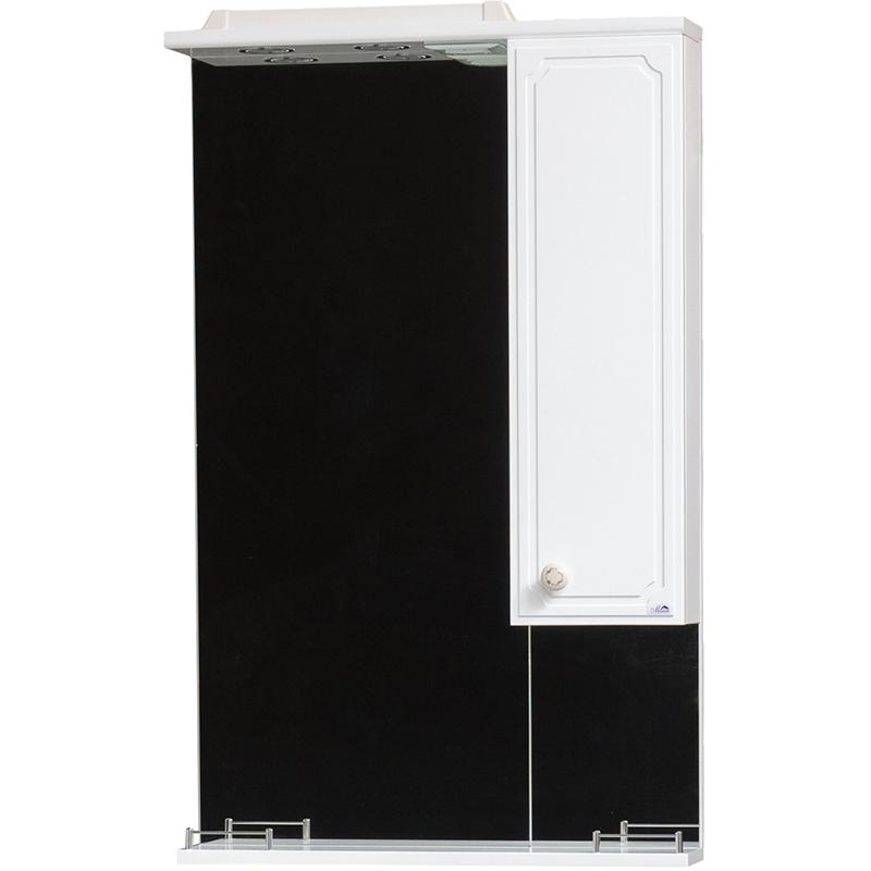 Зеркало со шкафом Cerutti SPA Ассоль 60 6554 с подсветкой Белое