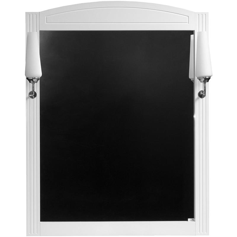 Зеркало Cerutti SPA Британика 80 6585 со светильниками Белое