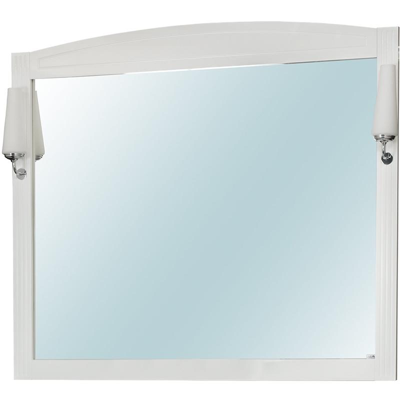 Зеркало Cerutti SPA Британика 100 6542 со светильниками Белое