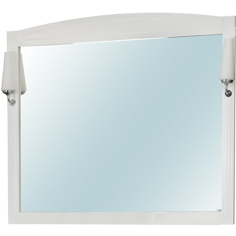 Зеркало Cerutti SPA Британика 120 6548 со светильниками Белое