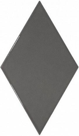 Керамическая плитка Equipe Rhombus Wall Dark Grey настенная 15,2х26,3 см