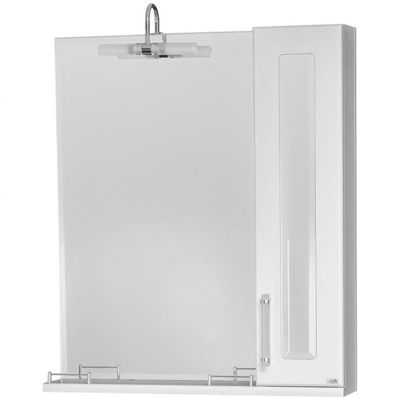 Зеркало со шкафом Cerutti SPA Хилтон 70 6581 светильником Белое