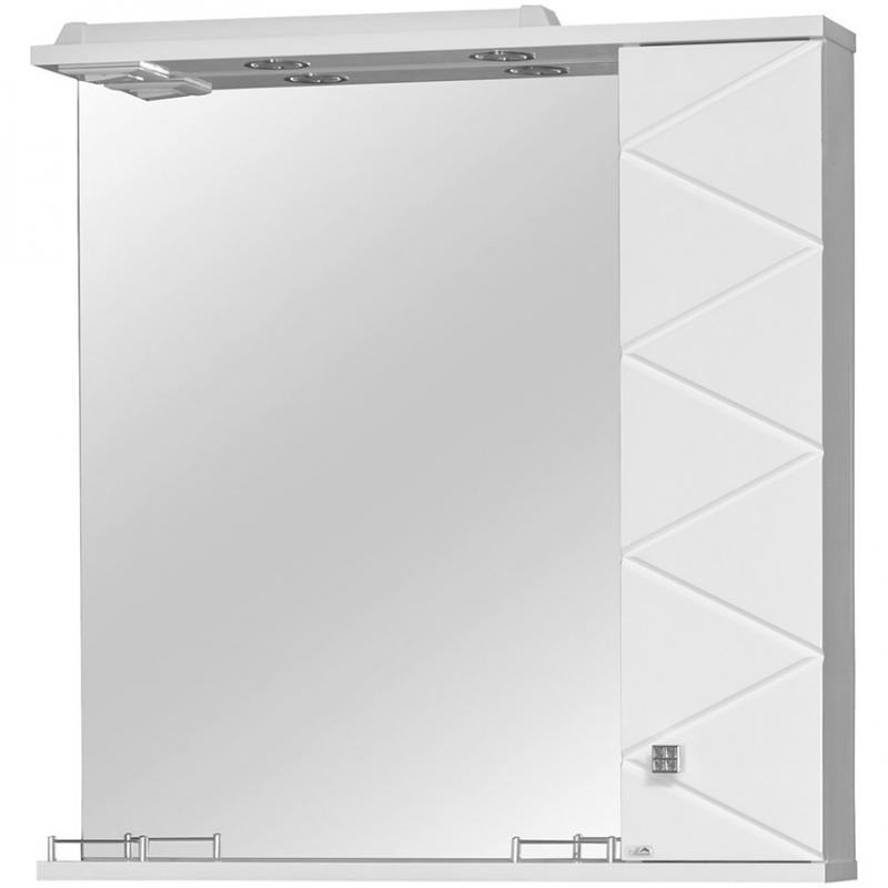 Зеркало со шкафом Cerutti SPA Кристалл 80 6590 с подсветкой Белое