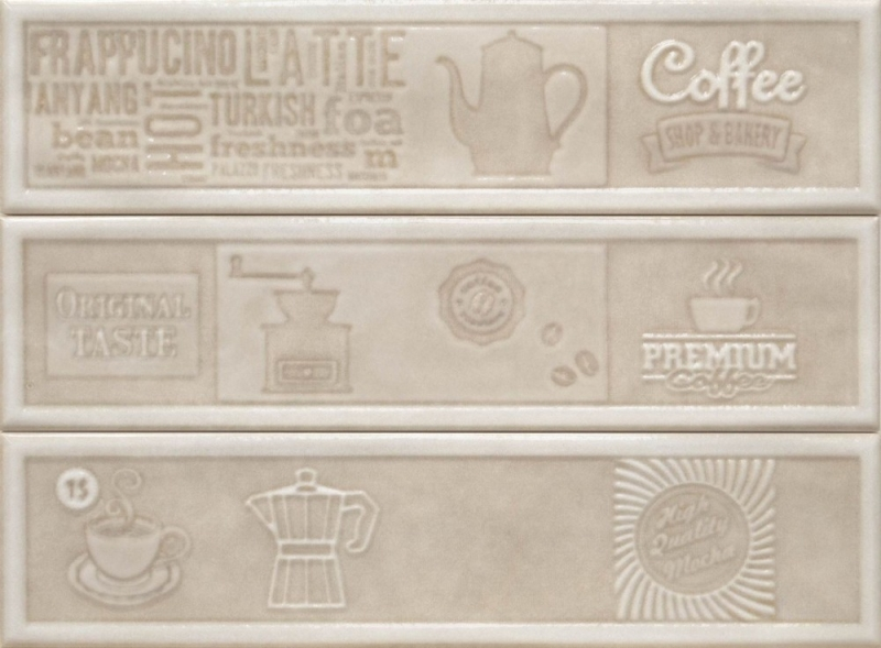 Керамический декор Cifre Opal Comp. Original Taste Ivory 22.5x30см