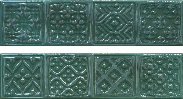 Керамический декор Cifre Opal Comp. Rodia Emerald 15x30см