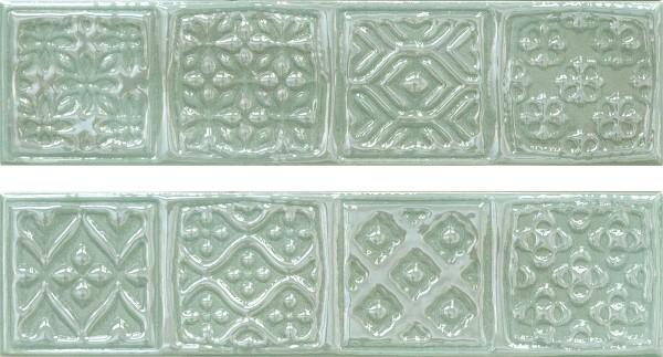Керамический декор Cifre Opal Comp. Rodia Turquoise 15x30см