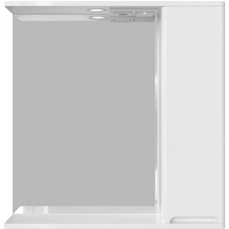 Зеркало со шкафом Sanstar Адель 70 175.1-2.4.1. с подсветкой Белое