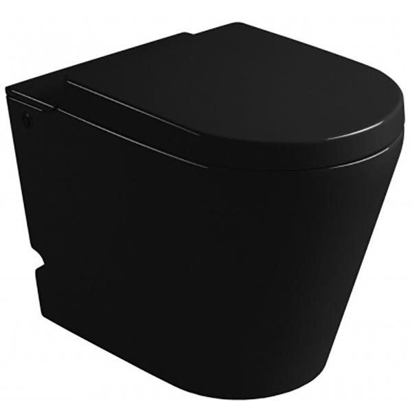 Унитаз Cerutti SPA B-380B Black 7266 с импульсным смывом приставной с сиденьем Микролифт комплект унитаза cerutti spa c 370c black 7280 с импульсным смывом с инсталляцией с сиденьем микролифт