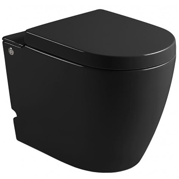 Унитаз Cerutti SPA B-376B 7265 Black с импульсным смывом приставной с сиденьем Микролифт комплект унитаза cerutti spa c 370c black 7280 с импульсным смывом с инсталляцией с сиденьем микролифт