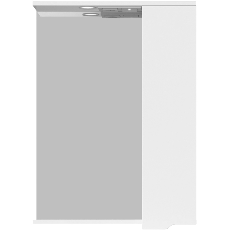 Зеркало со шкафом Sanstar Bianco 70 165.1-2.5.1. с подсветкой Белое