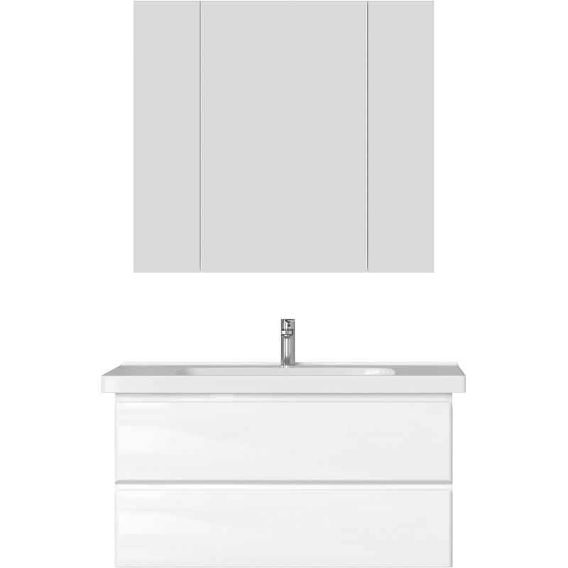 Комплект мебели для ванной San Star Arista 100 181.1-1.5.1.+641259+101.2-2.4.1. подвесной Белый