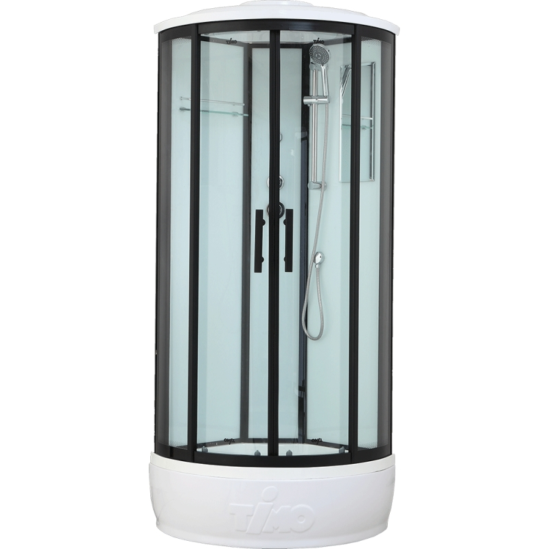 Душевая кабина Timo Standart T-6680 B 80x80 профиль Черный стекло прозрачное
