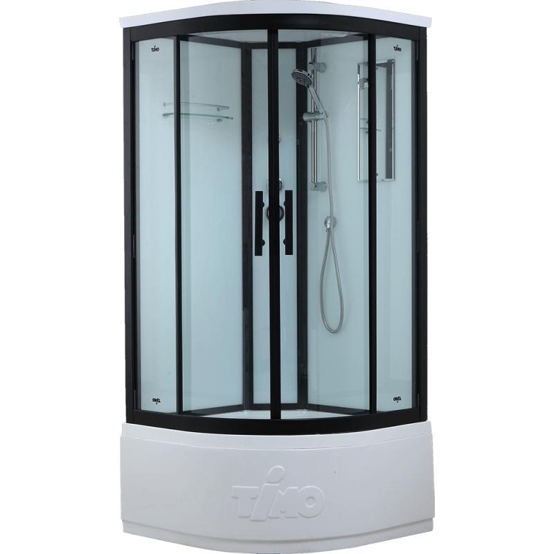 Душевая кабина Timo Standart T-6600 B 100x100 профиль Черный стекло прозрачное