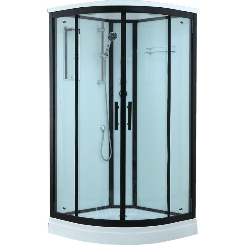 Душевая кабина Timo Standart T-6601 B 100x100 профиль Черный стекло прозрачное
