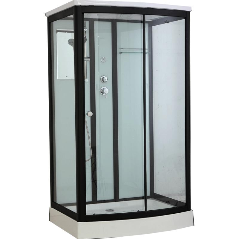 Душевая кабина Timo Standart T-6615 B 120x90 профиль Черный стекло прозрачное