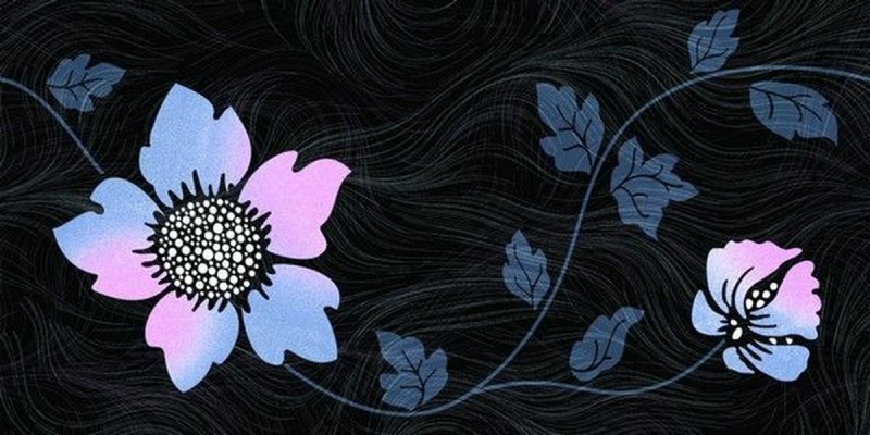 Керамический декор Нефрит Керамика Болеро синий 2 25х50 см