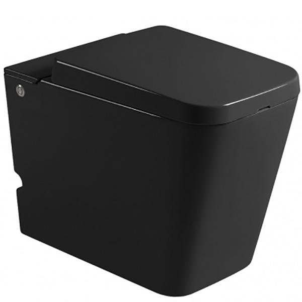 Унитаз Cerutti SPA B-370B 7268 Black с импульсным смывом приставной с сиденьем Микролифт комплект унитаза cerutti spa c 370c black 7280 с импульсным смывом с инсталляцией с сиденьем микролифт