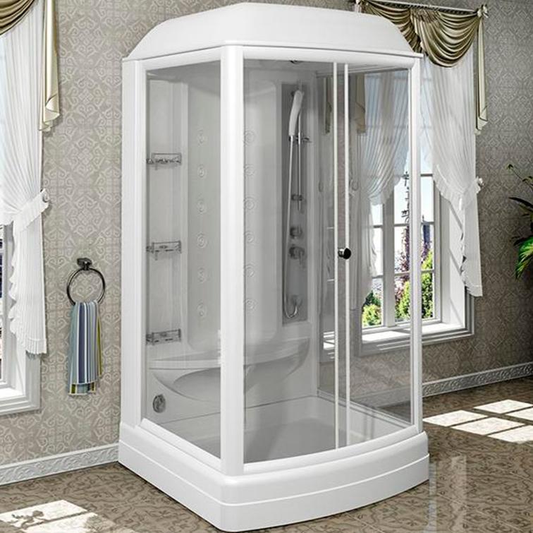Душевая кабина Radomir Диана 1 118x108 1-05-1-0-0-0600 профиль Белый стекло прозрачное фото