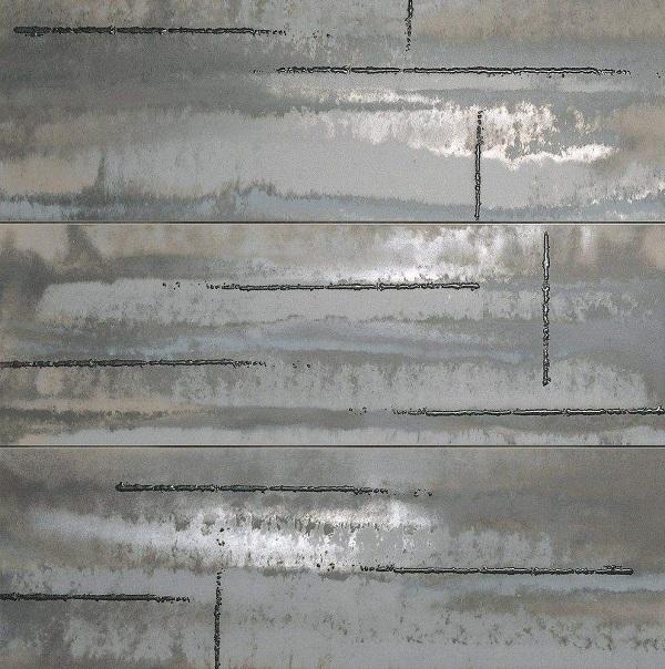 Панно Fap Ceramiche Evoque Acciaio Silver Inserto Mix 91,5х91,5см