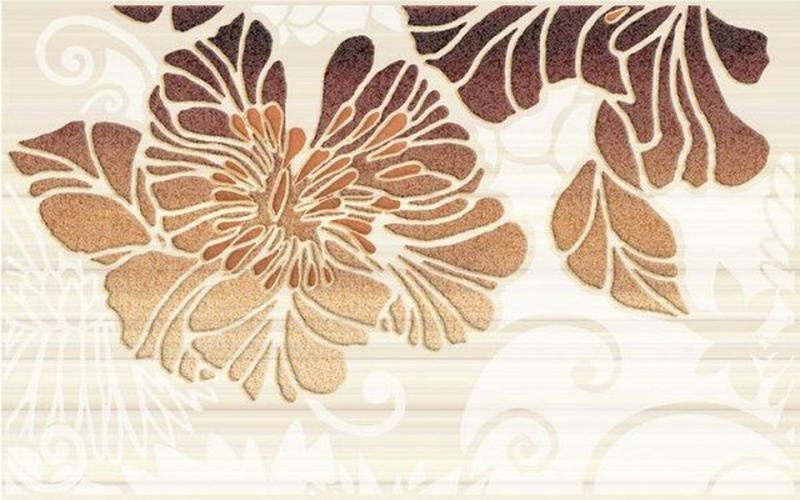 Керамический декор Нефрит Керамика Кензо коричневый 02 25х40 см