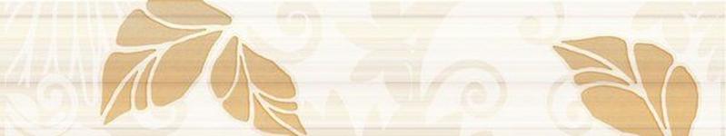 Керамический бордюр Нефрит Керамика Кензо коричневый 7,5х40 см